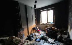 На Энтузиастов произошел пожар в квартире 12-этажного дома
