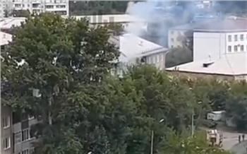 На улице Сергея Лазо загорелась квартира