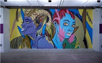 В Покровском граффитчики разрисовали подземную парковку