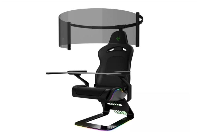 Razer выпустила игровое кресло с подсветкой и выдвижным OLED-дисплеем