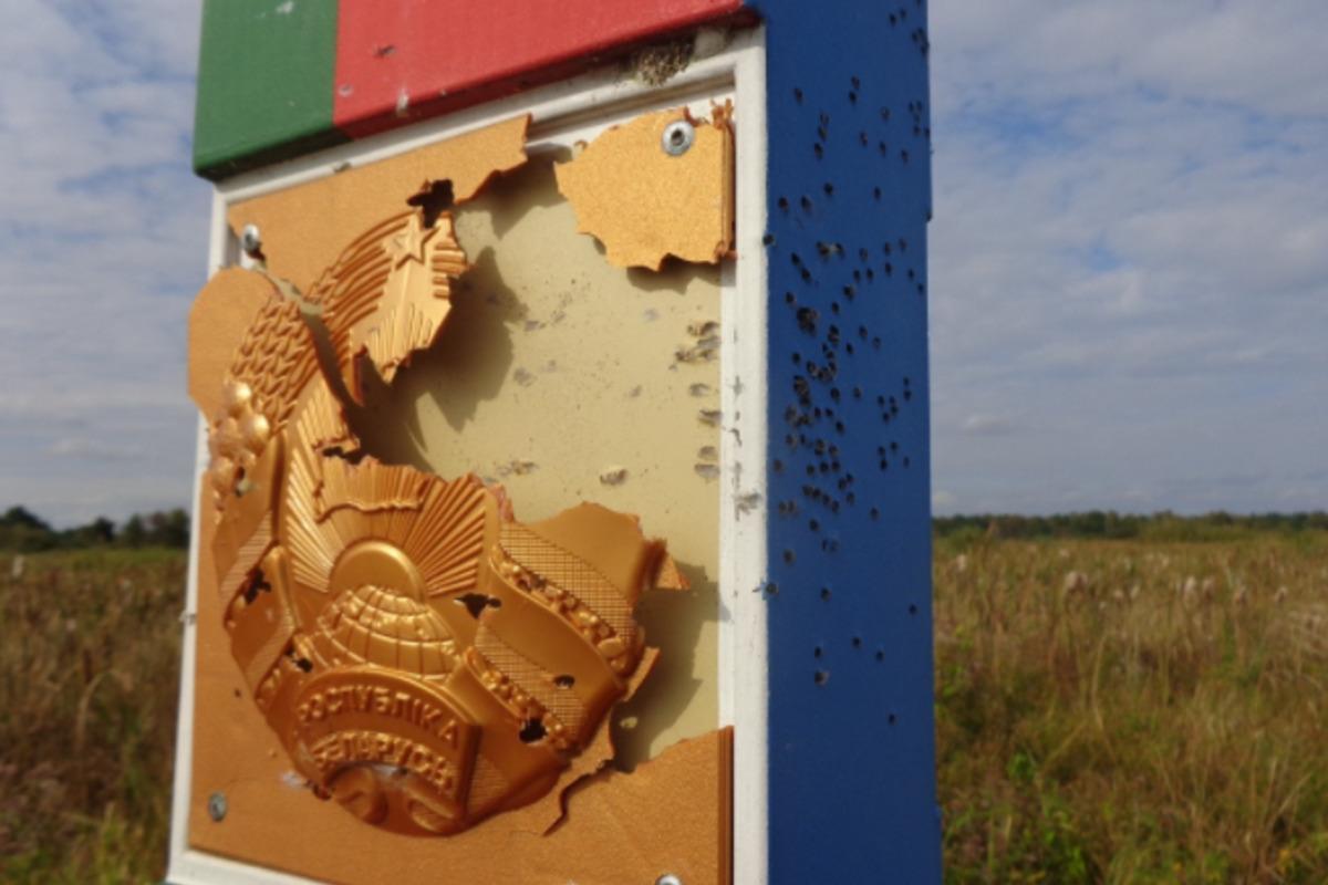 Нашли первыми: в Госпогранслужбе прокомментировали обстрел белорусского пограничного знака