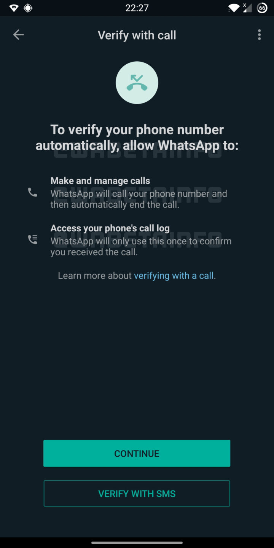 WhatsApp вскоре будет использовать звонок для подтверждения аккаунта