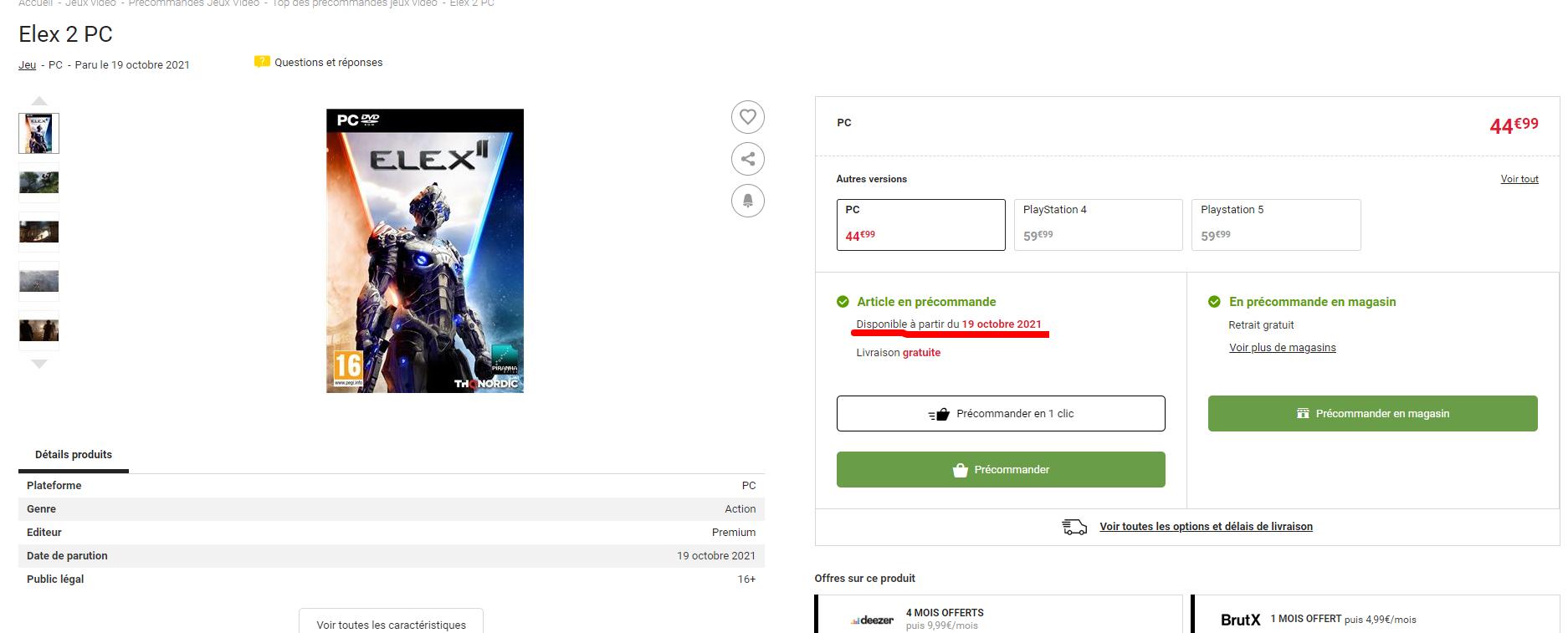 Слухи: в двух интернет-магазинах появилась возможная дата выхода ELEX II — 19 октября