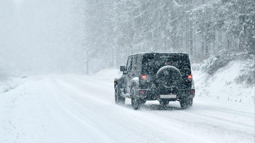 Мощный снегопад в Краснодарском крае спровоцировал серию ДТП