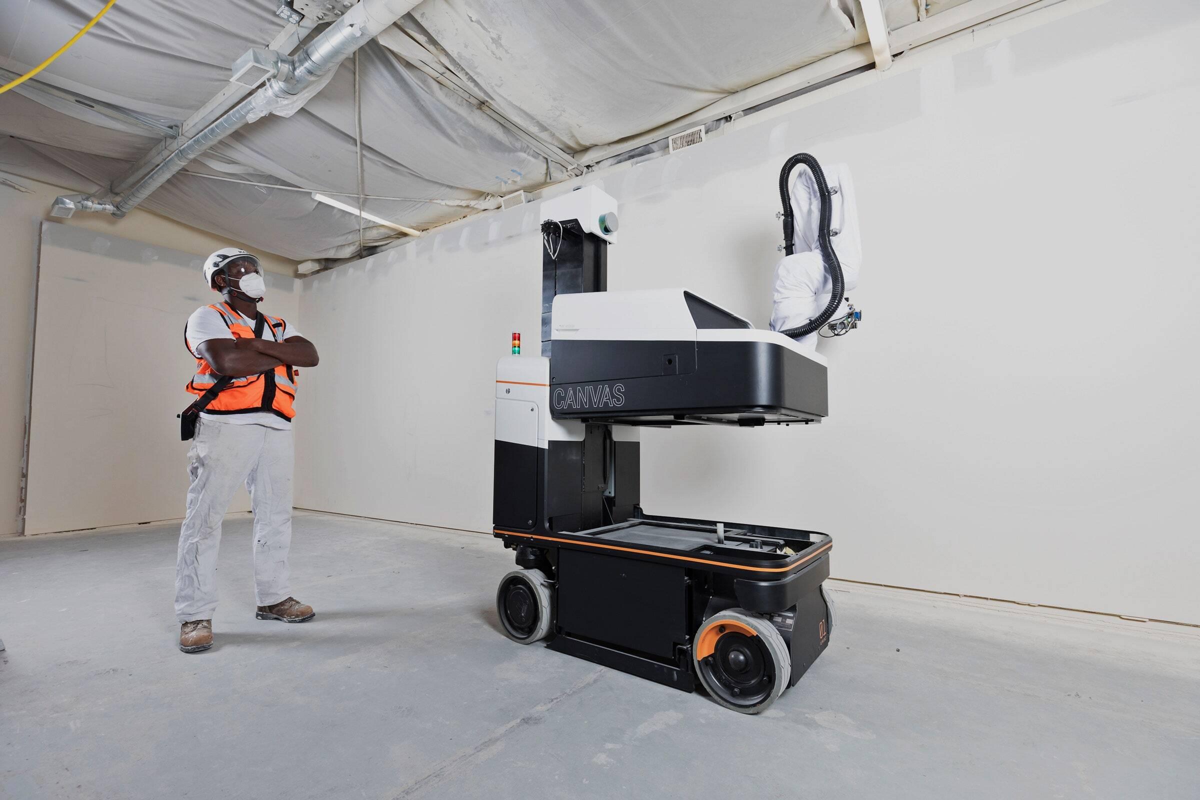 Создан робот для отделки стен