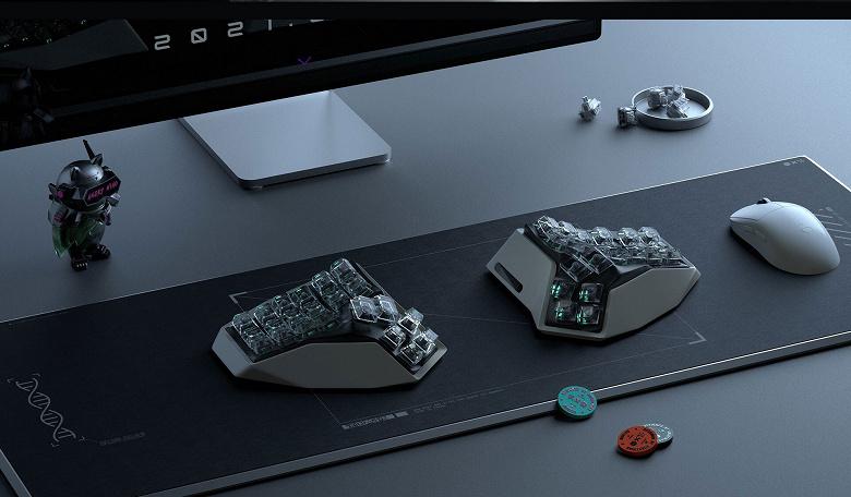 Анонсирован выпуск беспроводной эргономичной сплит-клавиатуры «органической формы» AM HATSU, которая будет продаваться в форме NFT