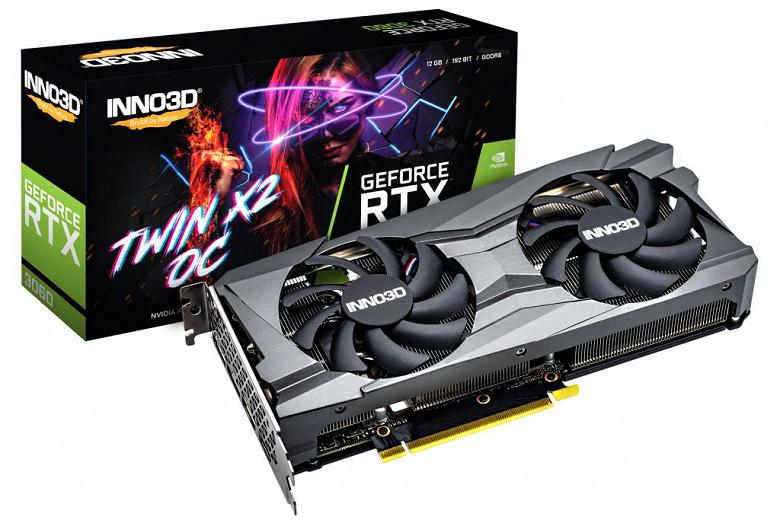 Представлены видеокарты Inno3D GeForce RTX 3060 Twin X2, Twin X2 OC и iChill X3 Red