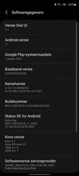 Samsung дала зелёный свет обновлению One UI 3.1 для Galaxy S20 FE