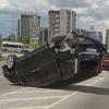 Крупное ДТП в Омске: иномарка оказалась на крыше и без колес