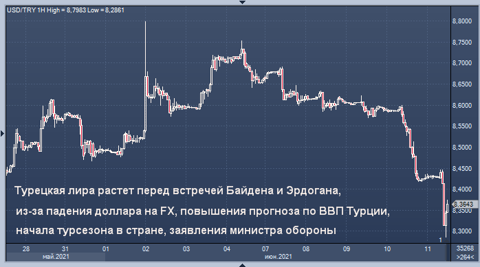 Турецкая лира подскочила на 1,7%