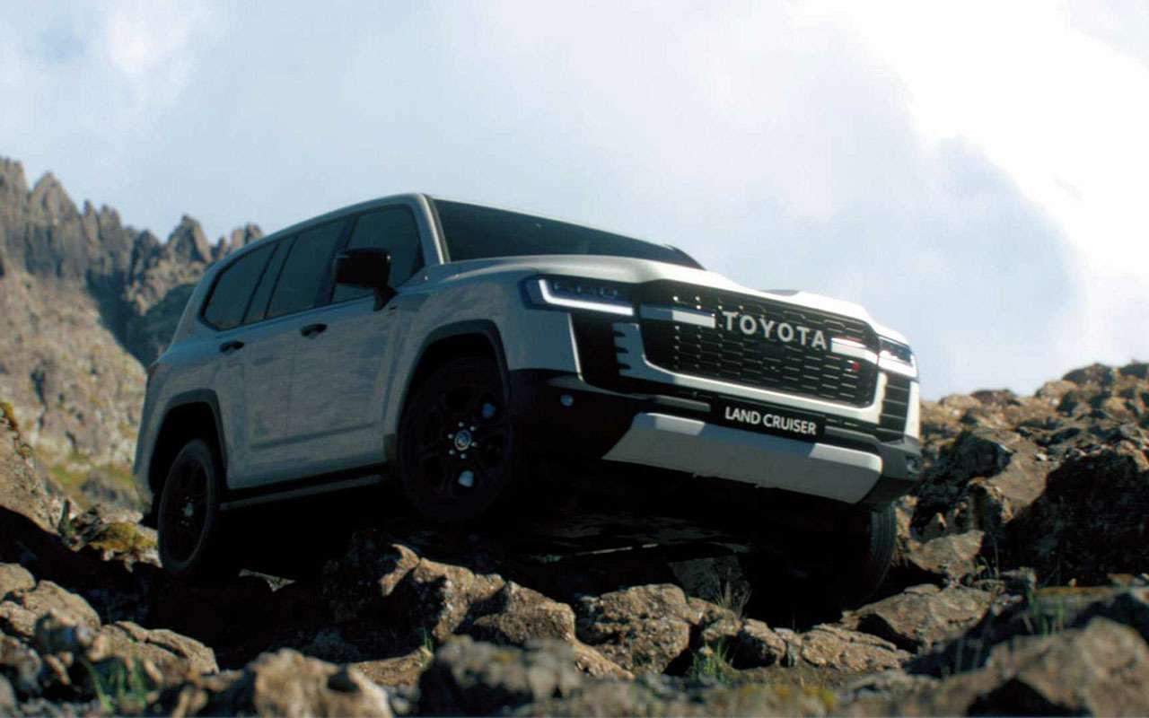 Toyota показала новый Land Cruiser на бездорожье — видео