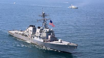 США провели в Чёрном море учения ВМС и ВВС