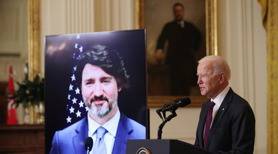 Байден проводит переговоры с премьером Канады