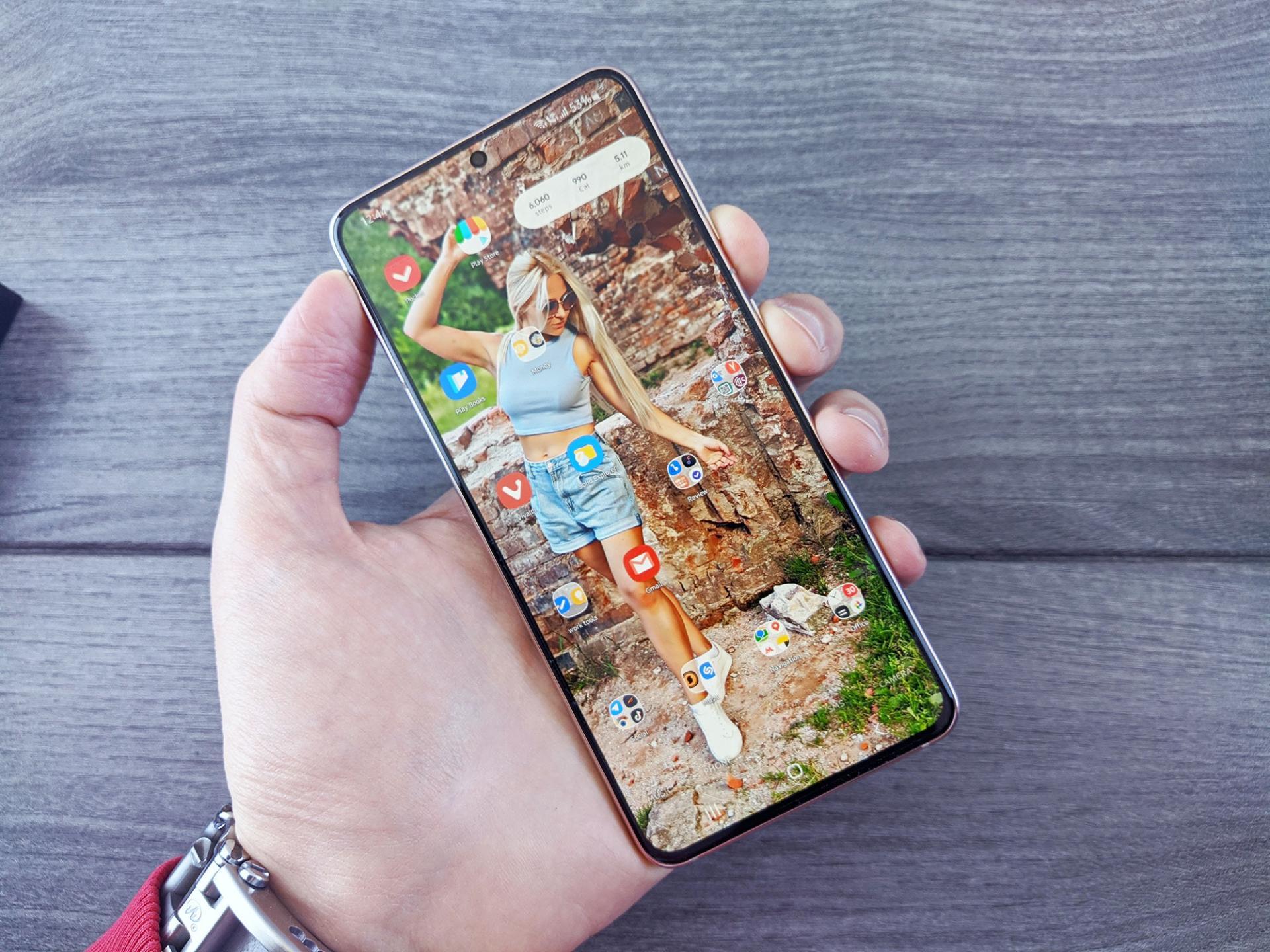 Как сделать скриншот экрана на Samsung Galaxy S21