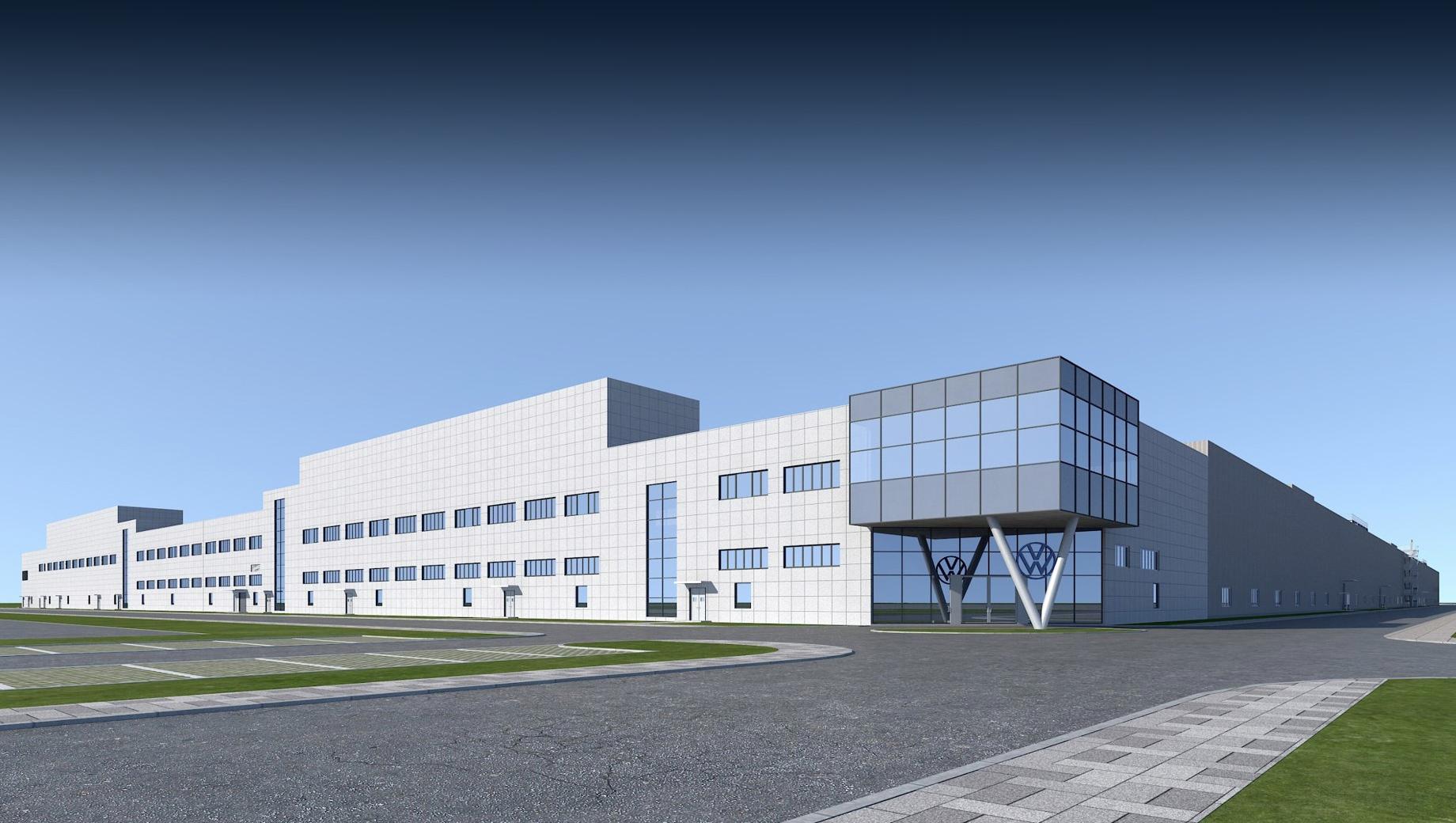 Группа Volkswagen начала строить третий MEB-завод в Китае