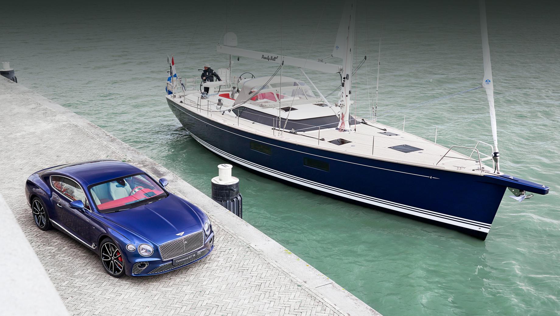 Уникальный Bentley Continental GT V8 породнился с яхтой