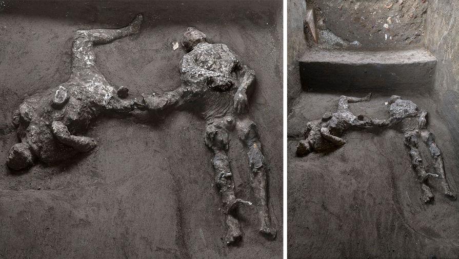 Останки погибших при извержении Везувия хозяина и раба нашли под Помпеями
