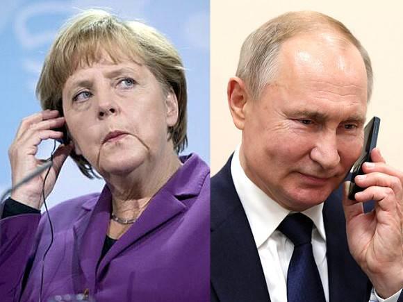 В Кремле рассказали, о чем беседовали Путин и Меркель