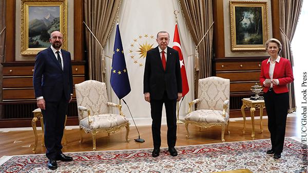 Глава Евросовета пожаловался на унижение фон дер Ляйен в Анкаре
