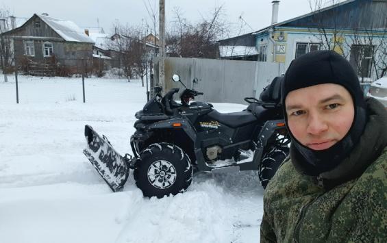Заснеженному Курску нужен герой на квадроцикле
