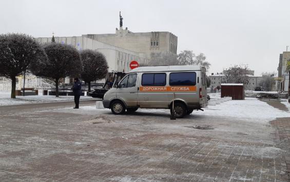 В Курске последствия снегопада ликвидируют с помощью современных технологий