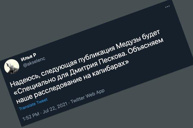 Дмитрий Песков снова ничего не понял ¯\_(ツ)_/¯. Только мемы — о том, как Кремль читал то самое расследование «Медузы», «Медиазоны» и «Холода»