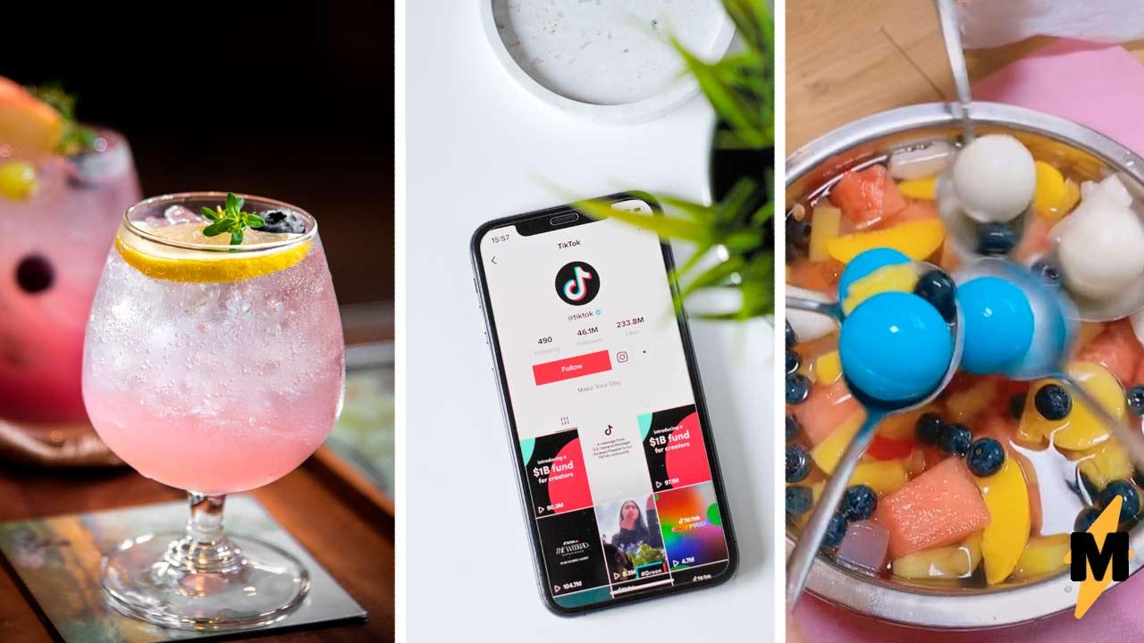 Как сделать трендовый корейский коктейль-фонтан? Нужны фрукты, газировка и Mentos