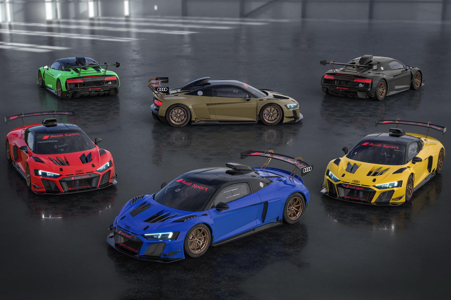 Представлены шесть эксклюзивных гоночных Audi R8