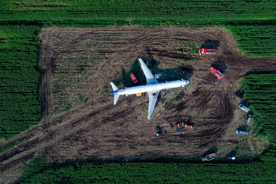 После столкновения самолета с птицами в Белгороде началась проверка