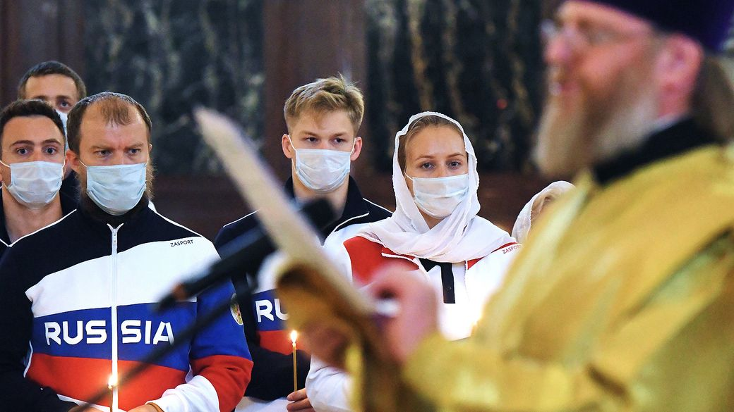 Чем протоиерей Алексеев помогает сборной России на Олимпиаде в Токио. На Игры он приехал в третий раз