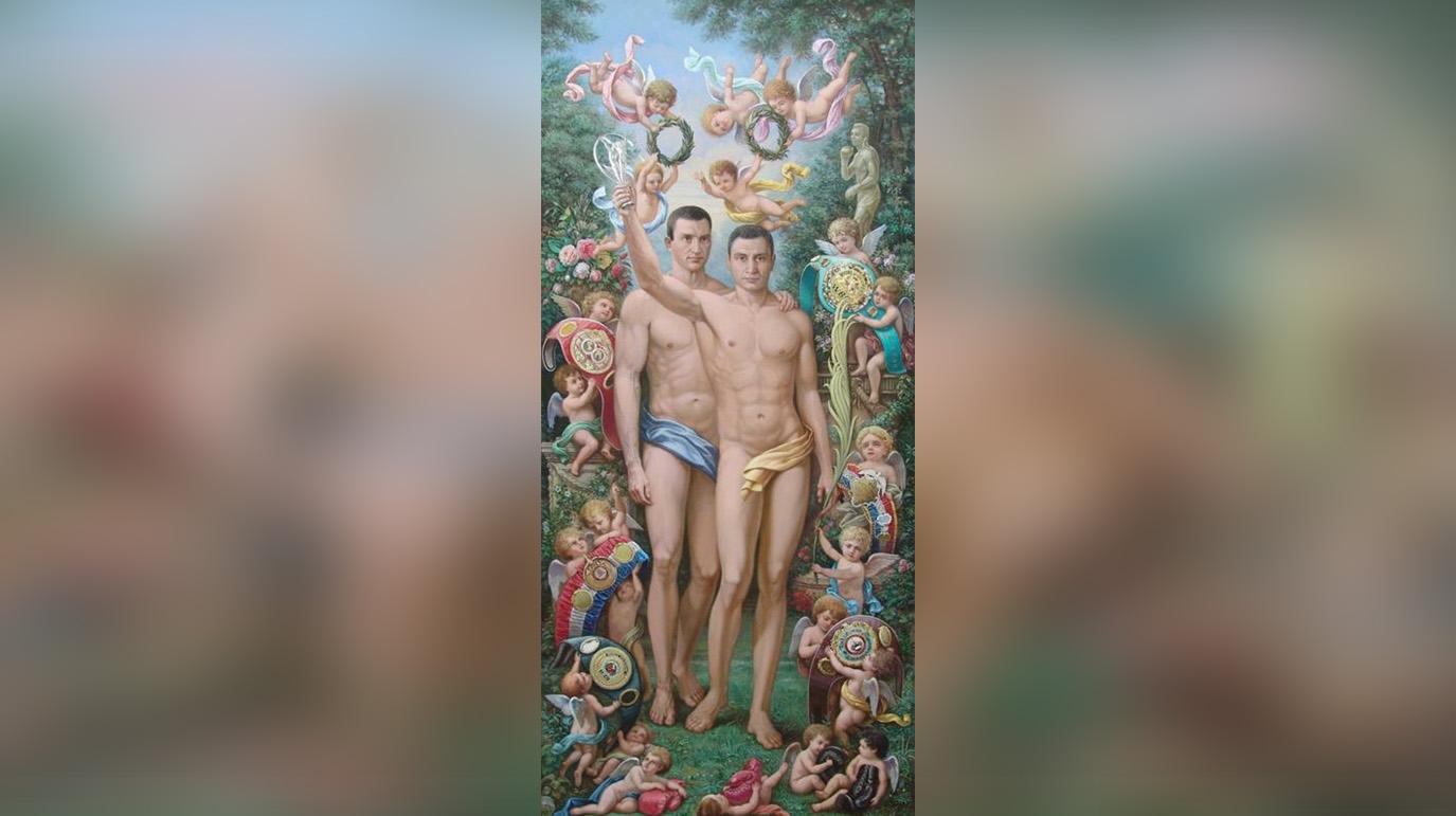 'Не поверила': Захарову шокировала картина за $50 тысяч с голыми братьями Кличко